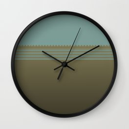 golden and blue Wall Clock