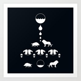 THE LION & THE BOAR Art Print