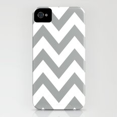 Gray Chevron Slim Case iPhone (4, 4s)