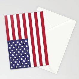 USA flag Stationery Cards