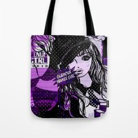 police Tote Bags featuring POLICE WOMEN by Chandelina