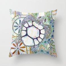 Sea Turtle Paisley  Throw Pillow