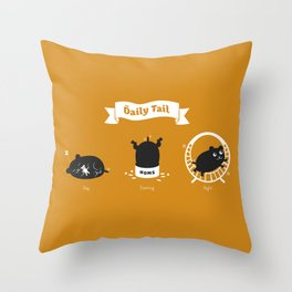 The Daily Tail Hamster Throw Pillow