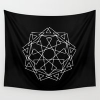 sacred geometry Wall Tapestries featuring Sacred Geometry Print 2 by poindexterity