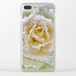 Beige Cabbage from the Garden Clear iPhone Case