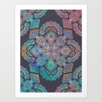 boho Art Prints featuring Boho Intense by micklyn