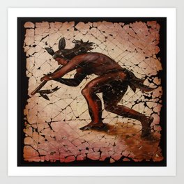 Kokopelli, The Flute Player. Art Print