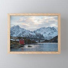 Lofoten winter Framed Mini Art Print