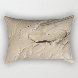FootPrint in Hidden Sinking Sand - Crack my Heart Rectangular Pillow