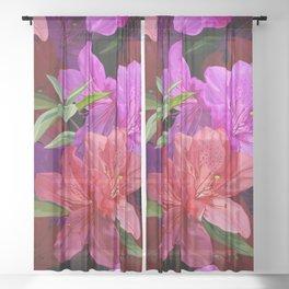 Beautiful hibiscus flowers Sheer Curtain