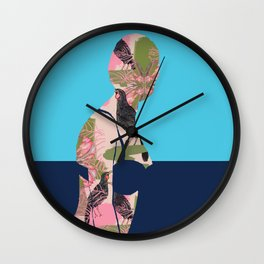 Back to Nature (Huias and Proteas) Wall Clock