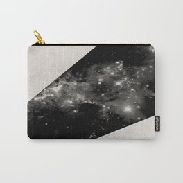 Expanding Universe - Abstract, black and white space themed design Carry-All Pouch