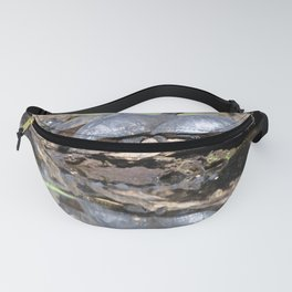 Watercolor Turtle Eastern Painted Turtle 02, Sunbathers Paradise Fanny Pack