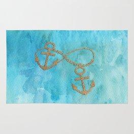 Hope anchors the soul - Sea Beach Anchor Water Rug