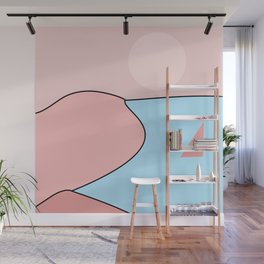 Happy Place - Blue Blush Wall Mural