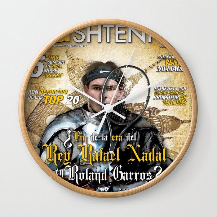 Rafael Nadal in Shinning Armor Wall Clock