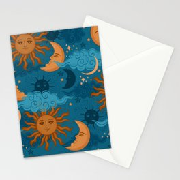 The Sun, The Moon and The Stars Stationery Cards