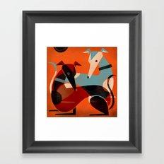 GREYHOUND PAIR Framed Art Print