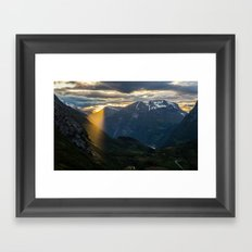 Geiranger Sun Framed Art Print