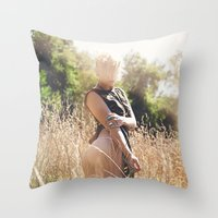 rebel Throw Pillows featuring Rebel by Josefina
