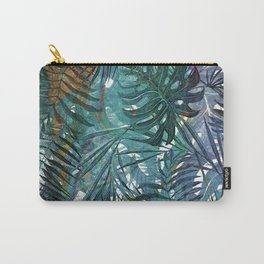 Aloha - Tropical Palm Leaves and Monstera Leaf Garden Carry-All Pouch