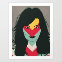 bjork Art Prints featuring BJORK by Mamut