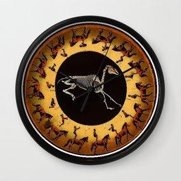 Skeleton Horse Hamster Wheel Wall Clock