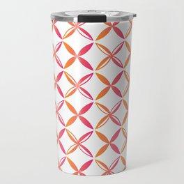 Urban Nesian Pink and Orange Siapo Travel Mug