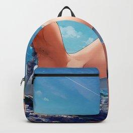 Cute Hentai Girl Giant Reeking Havoc Over City Ultra HD Backpack