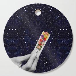 Rolling Flower in Space Cutting Board