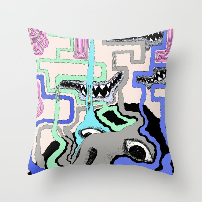 Strange Vision Throw Pillow