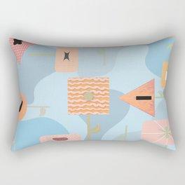 Funky Flowers Rectangular Pillow