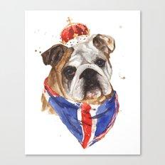 Thank you LONDON - British BULLDOG - Jubilee Art Canvas Print
