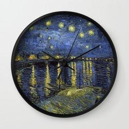 1888-Vincent van Gogh-Starry Night-72x92 Wall Clock