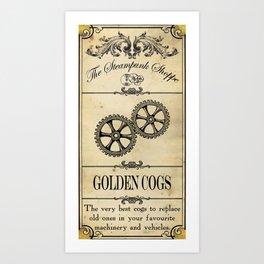 Steampunk Apothecary Shoppe - Cogs Art Print