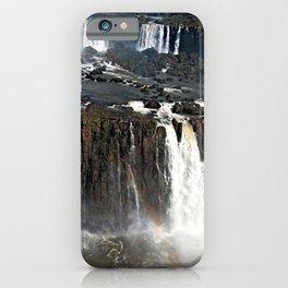Iguazu Iguassu Waterfall Landscape Panorama Scenery, Brazil Argentina 18 iPhone Case
