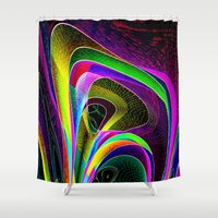 magneto Shower Curtains featuring magneto-dynamic by David  Gough
