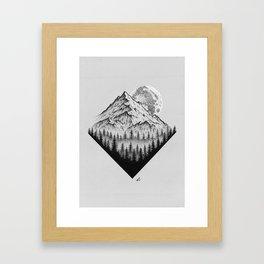 Mountain moonshine Framed Art Print
