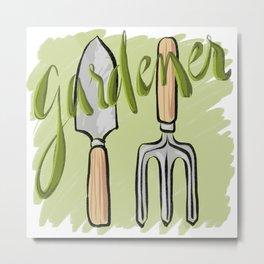Gardener Metal Print
