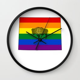 Wyoming Pride! Wall Clock