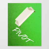 pivot Canvas Prints featuring Friends 20th - Pivot by Allison Hoover