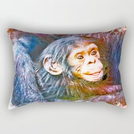 Cute Chimpanzee Baby Rectangular Pillow