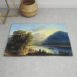 Mountain Lake 1852 By Lev Lagorio | Reproduction | Russian Romanticism Painter Rug