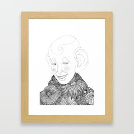 playful spirit Framed Art Print