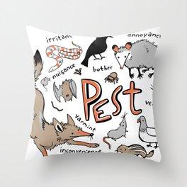 Pest Throw Pillow