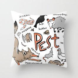 Pest Throw Pillow