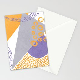 Triangles and sprinkles Stationery Cards