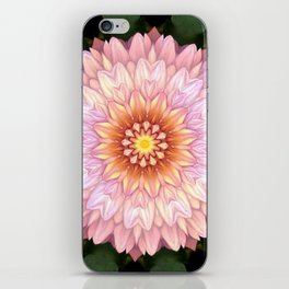 Abstract Zinnia Pink iPhone Skin