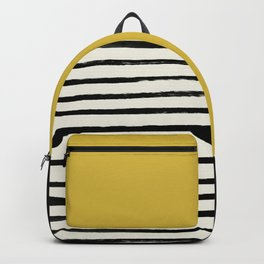 Mustard Yellow & Stripes Backpack