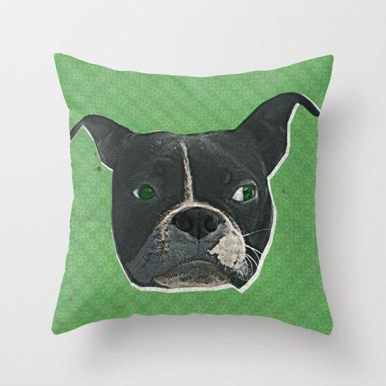 Boston Terrier Print Throw Pillow